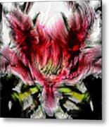 Textured Lily Metal Print