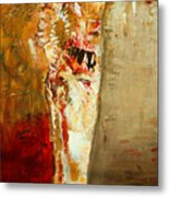Textured Nude Metal Print