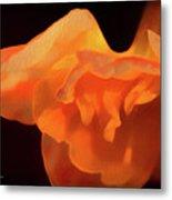 Textured Orange Metal Print