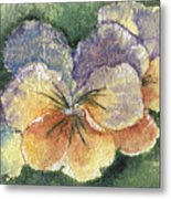 Textured Pansy Metal Print