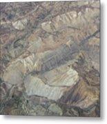 Textured Valleys Metal Print