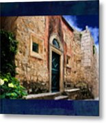 Textured Wall In  Venice Italy Metal Print