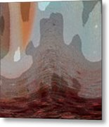 Textured Waves Metal Print