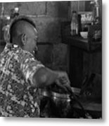Thai Cook Metal Print