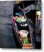 Thai Floating Village 1 Metal Print