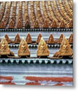 Thai Temple Roof Metal Print