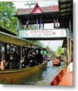 Thailand Floating Market Metal Print