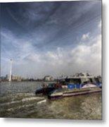 Thames Clipper And Cable Car Metal Print