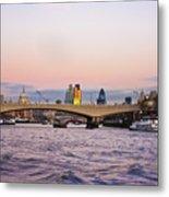 Thames Glow Metal Print