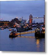 Thames Riverside Metal Print