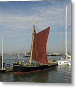 Thames Sailing Barge 'alice' Metal Print