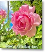 Thank You For Thinking Of Me- Rose Metal Print