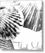 Thank You Seashell Metal Print