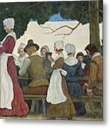 Thanksgiving Banquet Metal Print