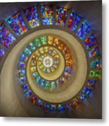 Thanksgiving Chapel Stained Glass Metal Print
