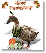 Thanksgiving Indian Duck Metal Print