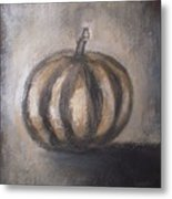Thanksgiving - Pumpkin Metal Print