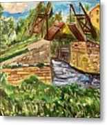 The Langloise Bridge Metal Print