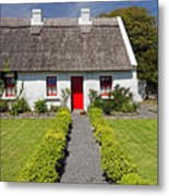 Thatch Roof Cottage Ireland Metal Print