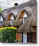 Thatched Cottages In Chawton 2 Metal Print