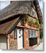 Thatched Cottages In Chawton 4 Metal Print