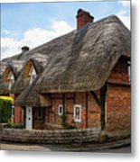 Thatched Cottages In Chawton Metal Print