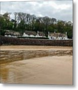 Thatched Cottages In Dunmore East Ireland  Metal Print