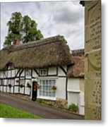 Thatched Cottages Of Hampshire 12 Metal Print