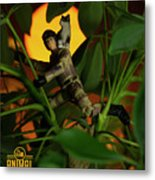 The 1-18 Animal Rescue Team - Cat In Jungle Metal Print