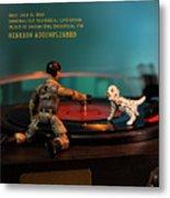 The 1-18 Animal Rescue Team - Dog On Turntable Metal Print