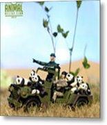The 1-18 Animal Rescue Team - Pandas On The Savannah Metal Print