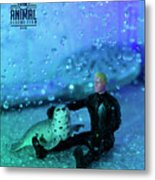 The 1-18 Animal Rescue Team - Seal In Shower Metal Print