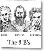 The 3 B's Metal Print