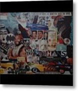The 80 S Collage Metal Print