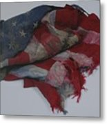 The 9 11 W T C Fallen Heros American Flag Metal Print