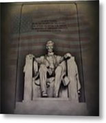 The Abraham Lincoln Memorial Metal Print