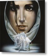 The Face In The Mirror Metal Print