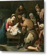 The Adoration Of The Shepherds Metal Print by Bartolome Esteban Murillo