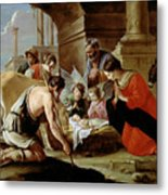 The Adoration Of The Shepherds Metal Print by Louis Le Nain