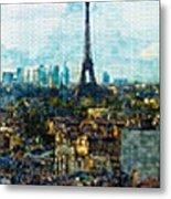 The Aesthetic Beauty Of Paris Tranquil Landscape Metal Print