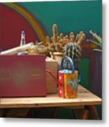 The African Watering Can Metal Print