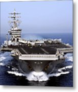 The Aircraft Carrier Uss Dwight D Metal Print by Stocktrek Images