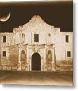 The Alamo Greeting Card Metal Print