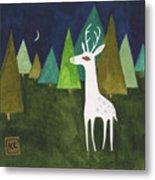 The Albino Deer Metal Print