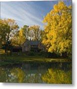The Alexander Farm And Pond Metal Print