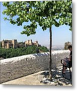 The Alhambra From Sacromonte Metal Print