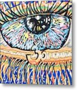 The All Seeing All Colourfull.... Metal Print