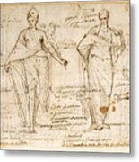 The Allegorical Figures Of Reason And Wisdom  Metal Print