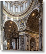 The Altar And Dome In St Peter's Basilica Metal Print