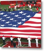 The American Flag Metal Print by Allen Beatty